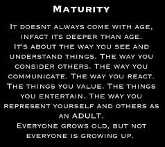 Image result for maturity men or women